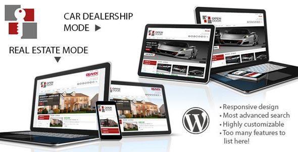 ThemeForest - OpenDoor Responsive Real Estate and Car Dealership Free Download