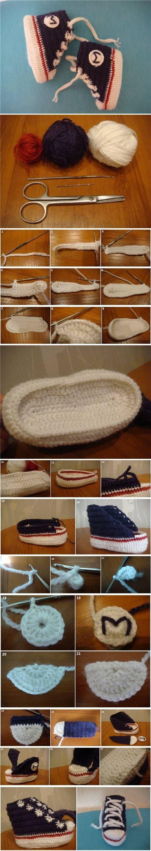 DIY Crochet Tennis Booties