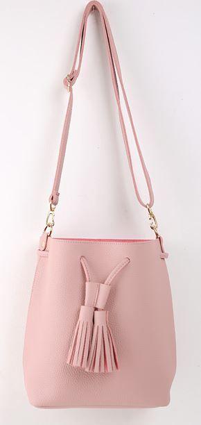 StyleOnme_No. 36476 #bag #shoulderbag #tassel