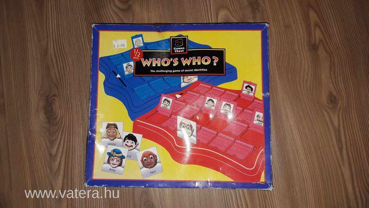 BS játék - Who's Who társasjáték – Ki kicsoda?  Ajánlott: 6 éves kortól, 2 játékos részére - 2000 Ft - Nézd meg Te is Vaterán - Party társasjáték - http://www.vatera.hu/item/view/?cod=2560968011