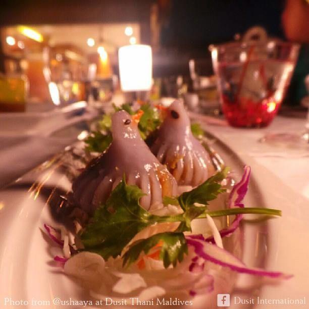 Enjoy decadent Thai food at the gracious Benjarong restaurant, Dusit Thani Maldives.
