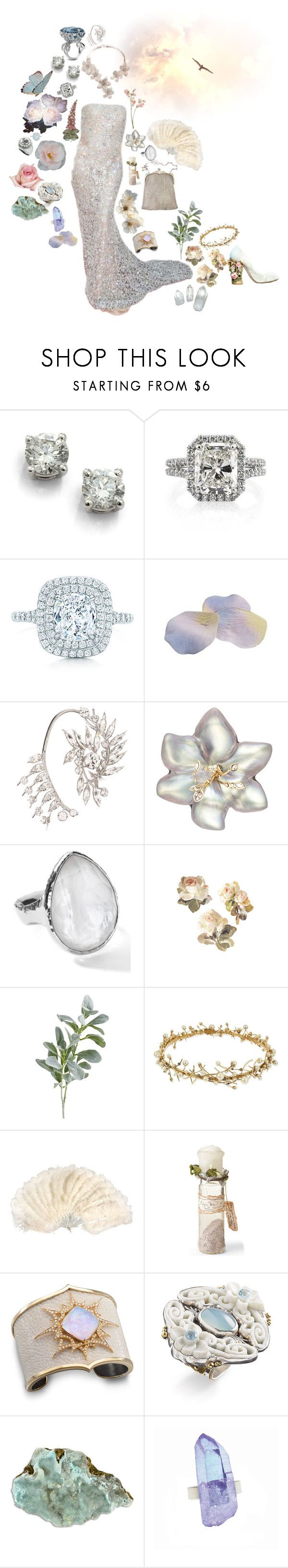 """""""Starlit"""" by ambre-moon ❤ liked on Polyvore featuring Erica Courtney, Saks Fifth Avenue, Tiffany & Co., Givenchy, Giuseppe Zanotti, Naeem Khan, Alexis Bittar, Ippolita, Pier 1 Imports and Erickson Beamon"""