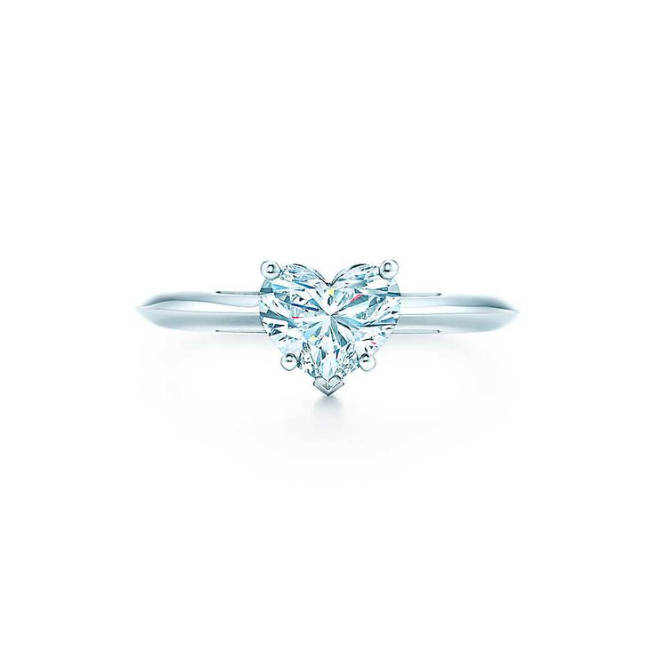Heart Shape Set in platinum, a single heart-shaped diamond is showcased in a classic symbol of love. 1 ct from $11800