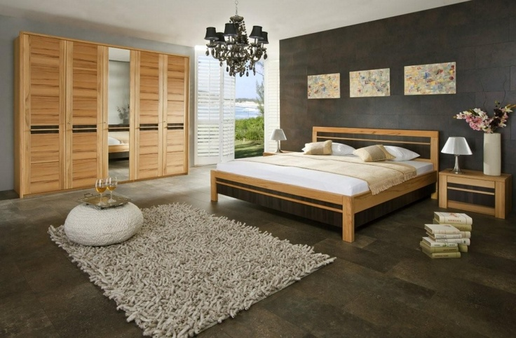 bett kleiderschrank nachtkommoden monte schlafzimmer pinterest nachtkommode bett und. Black Bedroom Furniture Sets. Home Design Ideas