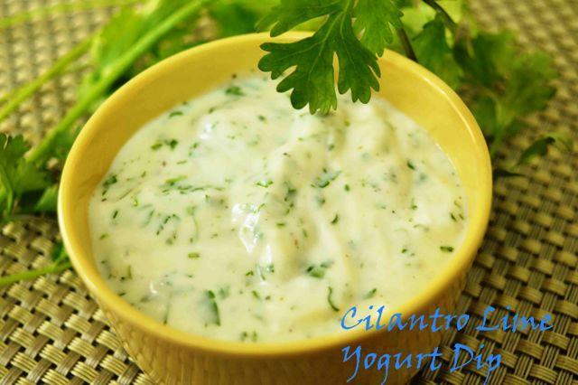 Cilantro Lime Yogurt Dip A cool dip #yogurt #cilantro #accompaniment #bakedpotato  Recipe at: www.annapurnaz.in