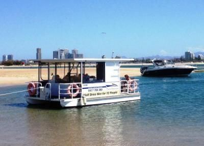 Drop anchor at wavebreak island - a hotspot to locals and many visitors to the Gold Coast