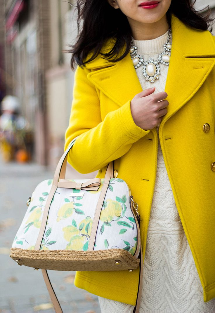 Yellow Peacoat (+ 2015 J. Crew Stadium-cloth Majesty Peacoat Review) - Fast Food & Fast Fashion | a personal style blog