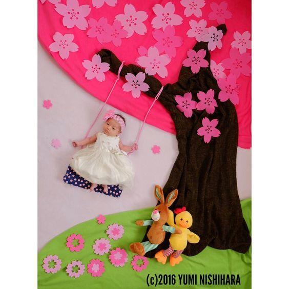 """34 Likes, 1 Comments - おひるねアートきらきら~さいたま市・上尾市~ (@ohiruneart_kirakira) on Instagram: """"「桜ブランコ」 おひるねアートの中で基本と言われるブランコも、木が変わるだけで季節を感じられます #おひるねアート協会#おひるねアート#おひるねアートきらきら #コノビー #コズレ #ベビフル…"""""""