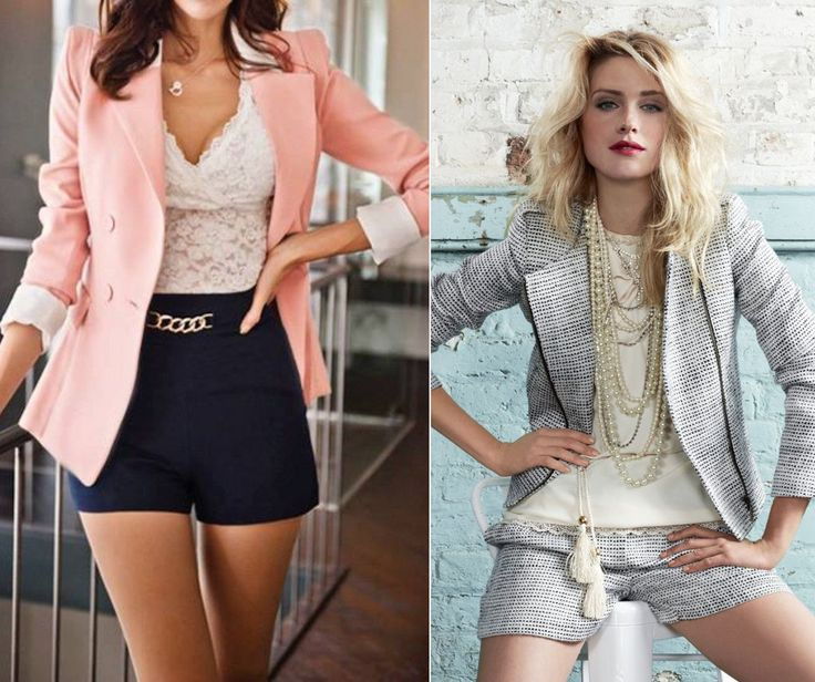 Shorts can be elegant too - great outfit for office during hot days.
