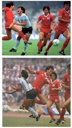 """Las """"caricias"""" de los coreanos,  México '86."""