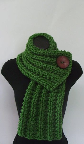 Add large button to too short knit scarves that I never wear to make a cowl wrap sort of like this picture... except looser, on the shoulders...Nice! I just love buttons!