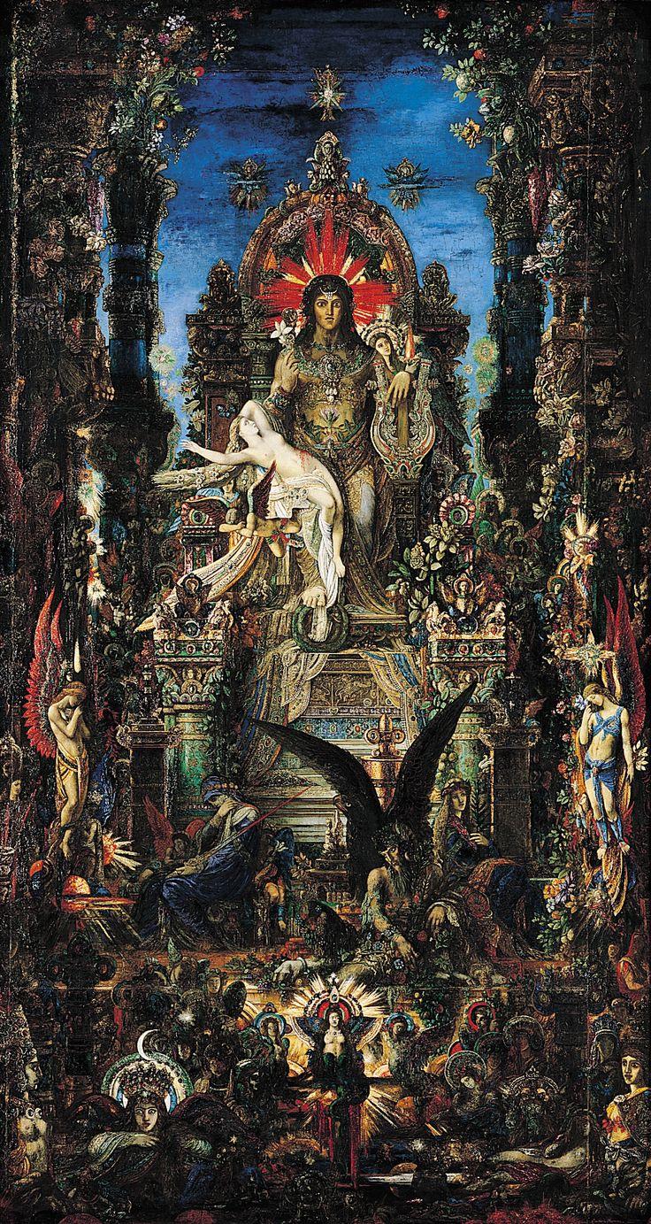 Gustave Moreau ~Jupiter und Semele~1894-1895 Musée Gustave Moreau ,Paris. ▓█▓▒░▒▓█▓▒░▒▓█▓▒░▒▓█▓ Gᴀʙʏ﹣Fᴇ́ᴇʀɪᴇ ﹕ Bɪᴊᴏᴜx ᴀ̀ ᴛʜᴇ̀ᴍᴇs ☞  http://www.alittlemarket.com/boutique/gaby_feerie-132444.html ▓█▓▒░▒▓█▓▒░▒▓█▓▒░▒▓█▓