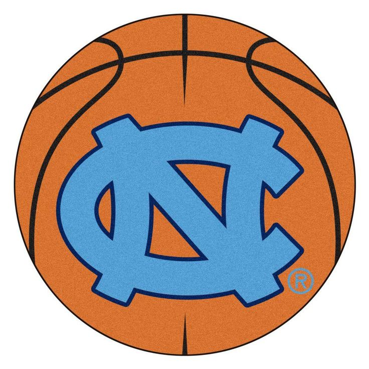 Ncaa University of North Carolina Chapel Hill NC Logo Orange 2 ft. 3 in. x 2 ft. 3 in. Round Accent Rug