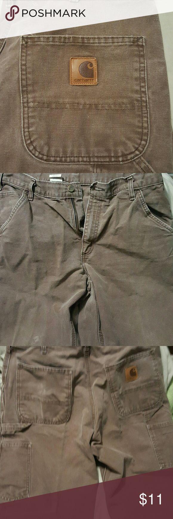 Men's brown Carhartt cargo work pants Men's brown Carhartt cargo work pants. Size 34 x 30. One pair left!! Carhartt Pants Cargo