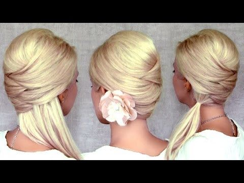 Criss cross hairstyles: half up half down, ponytail and updo for medium ... I doubt I can do myself .. . . but gorgeous!