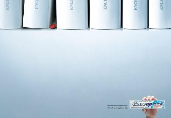 ENCYCLOPEDIA, Close-up Toothpaste, J Walter Thompson, Close-up, Print, Outdoor, Ads