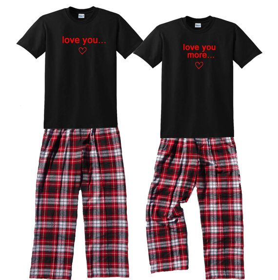 Love You Love You More Fun Matching Couples by FootstepsClothing