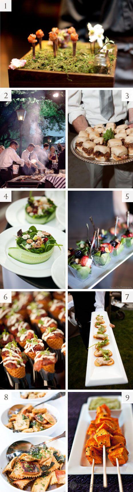 Si quieres que hasta el menú varíe aquí tienes unas cuantas ideas de cómo puedes utilizar bocadillos en lugar de una gran cena formal