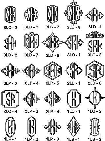 48 best images about monograms on pinterest vinyls how for Flowy tattoo fonts