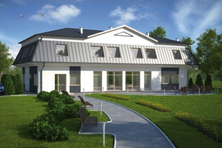 Projekt budynku usługowo-mieszkalnego, mogący pełnić funkcję sklepu przemysłowego z biurami oraz gabinetem kosmetycznym
