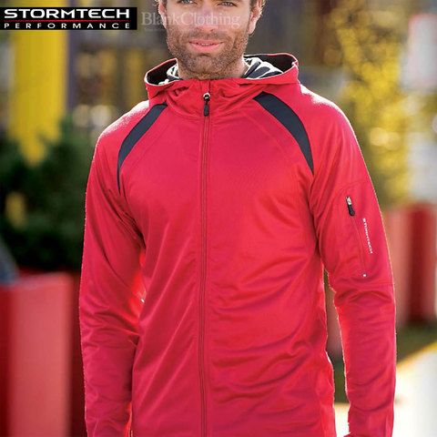 Buy online TRON | stormtech performance hoody full zip jacket. Athletic training-inspired, two tone, lightweight in sizes XS-2XL. Wholesale warehouse. No minimum. Australia