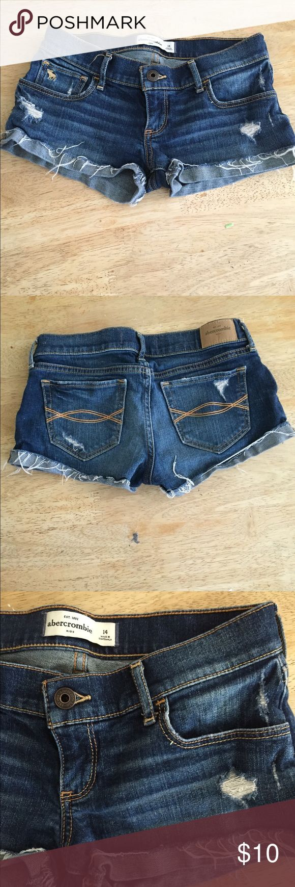 Abercrombie Kids Jean Shorts Abercrombie Kids girls jean shorts size 14 girls. Frayed and distressed for style. Excellent used condition. Thanks! abercrombie kids Bottoms Shorts