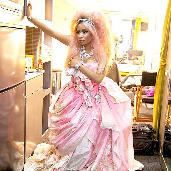 Nicki Minaj. That's pretty much how I like to hang around the house.