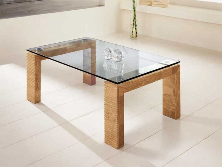 Coffee Table: Appealing Wood Glass Coffee Table Rectangle