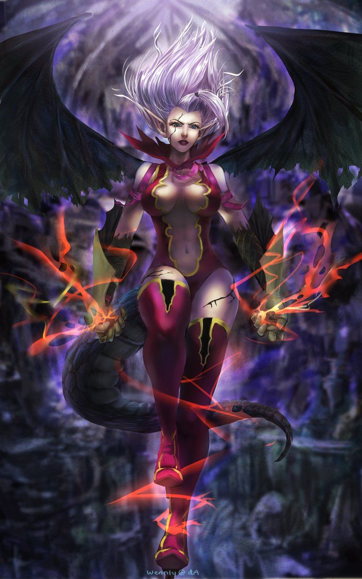 Demon by wennly on deviantART - Mirajane. This person does some FANTASTIC artwork .