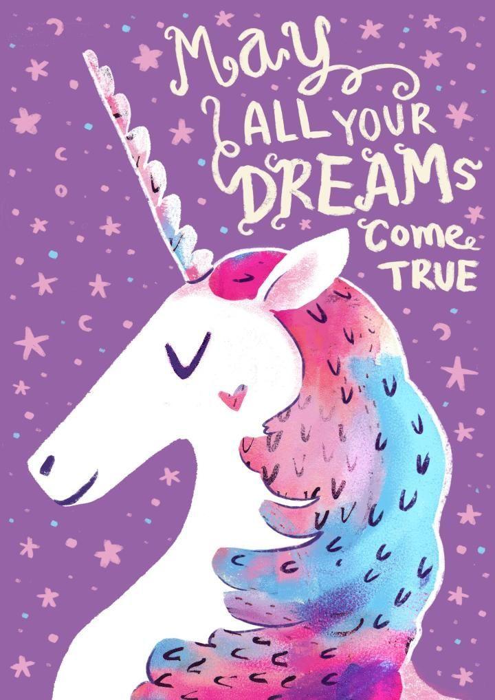 Unicorn illustration quote …