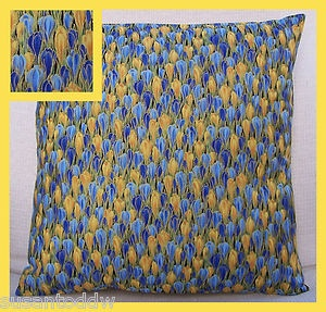 Clarice Cliff Inspired Floral Crocus cotton fabric cushion cover