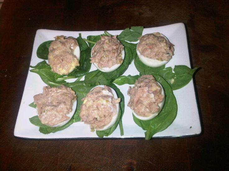 Dukan Inspired Tuna Deviled Eggs | Dukan friendly | Pinterest