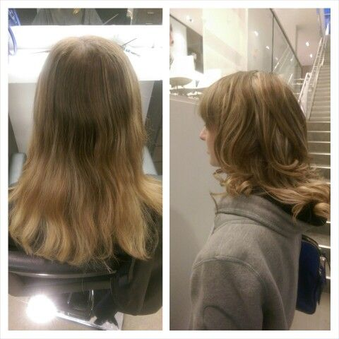 Full head higthligths , beautiful cool blonde I did to a client  color and style by me