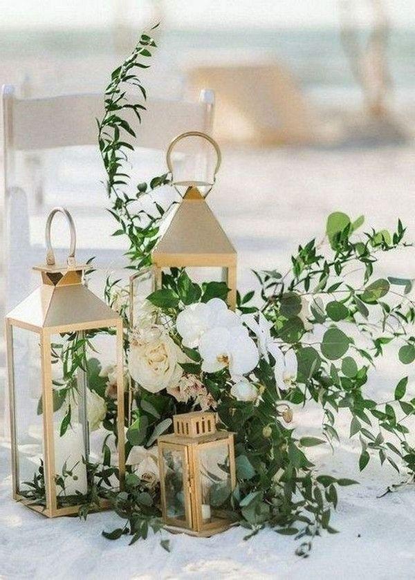 20 Minimalist Outdoor Wedding Aisle Decor Ideas Wedding Aisle Decorations Lantern Centerpiece Wedding Gold Lanterns