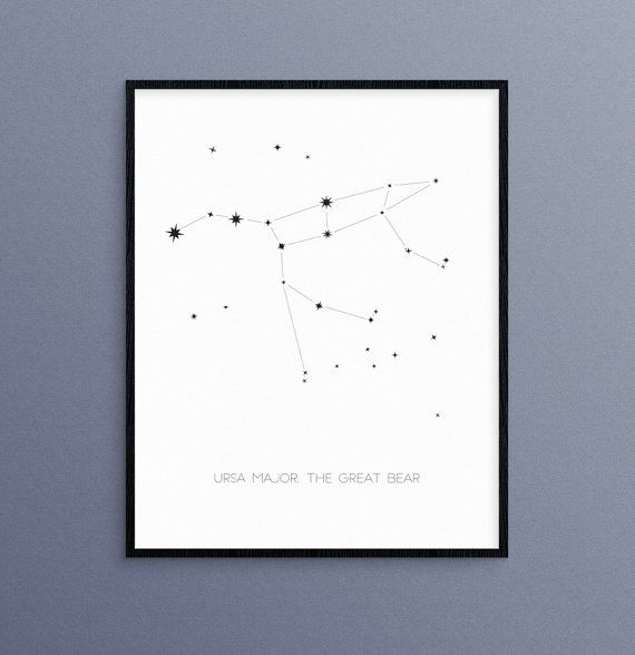 Osa mayor, la constelación de Brear gran | Arte de pared de astrología estrellas de Big Dipper