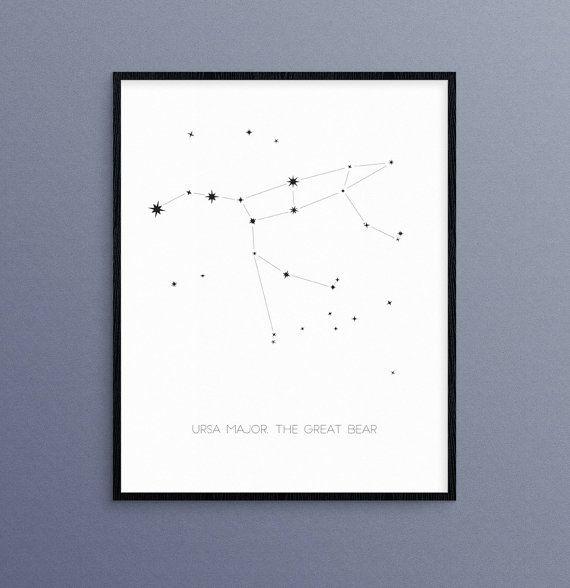 Osa mayor, la constelación de Brear gran | Arte de pared de astrología estrellas de Big Dipper