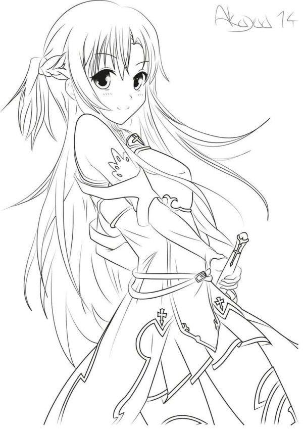 Dibujos De Anime Y Manga Para Colorear E Imprimir Con Imagenes