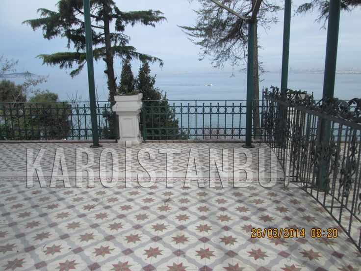 The floor handcrafted tiles and was made by Karoistanbul. Buyukada clubhouse garden.