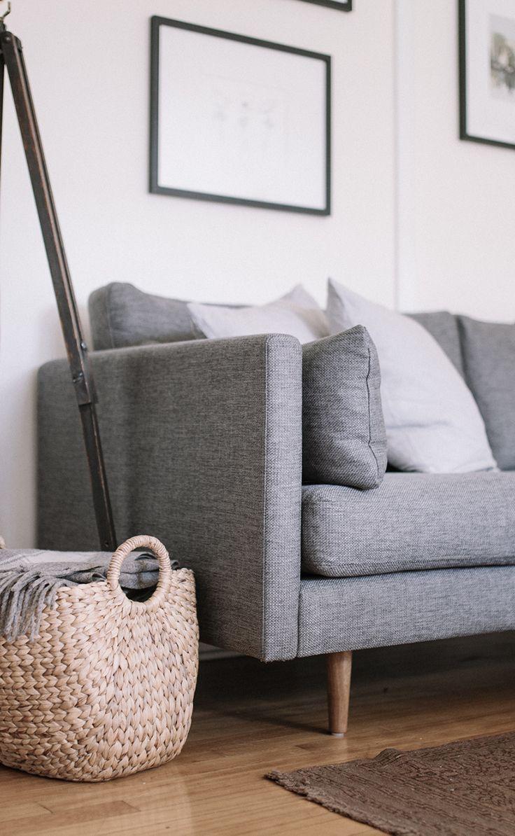 ANTON sofa in 'Gravel Gray'  Photo by Gillian Stevens