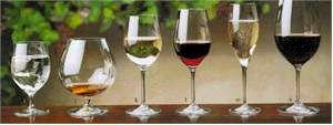 Water | Brandy | White wine | Pinor Noir/Burgundy | Sparkling wine | Red wine