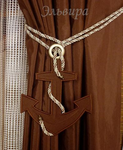 Ships anchor tie back for curtains #tiebacksforcurtains