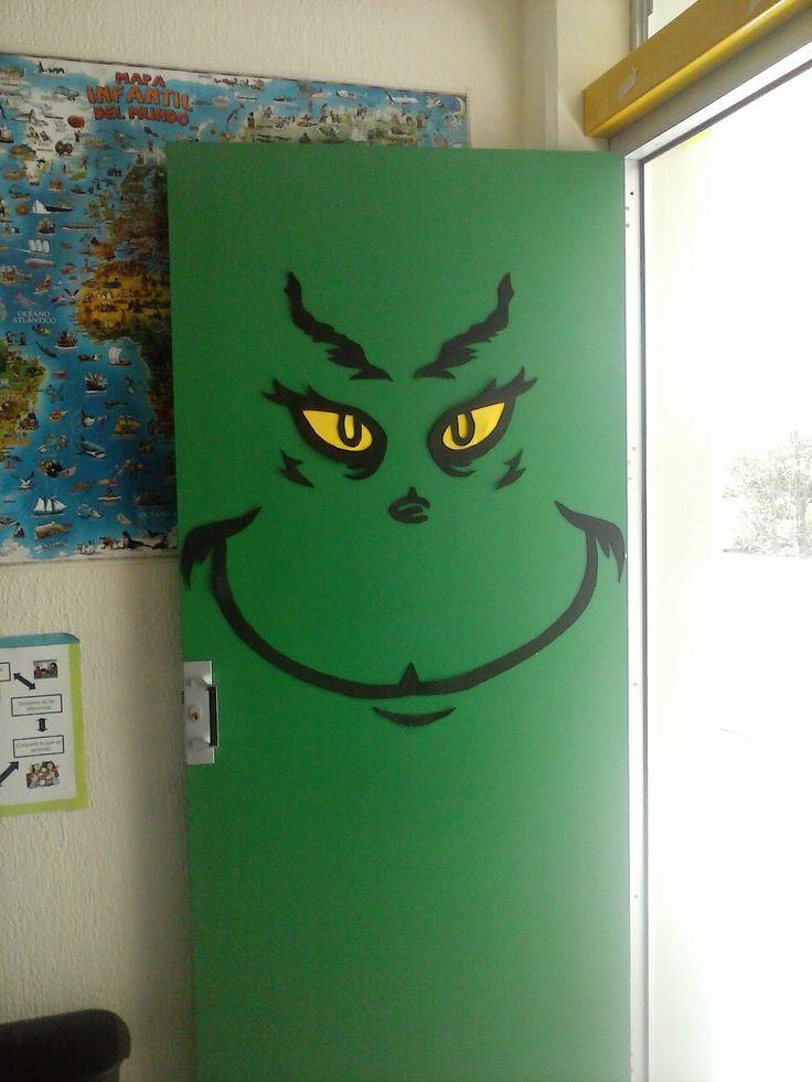 Decoraci n navide a puerta decorada decoraci n del for Puertas de halloween decoradas
