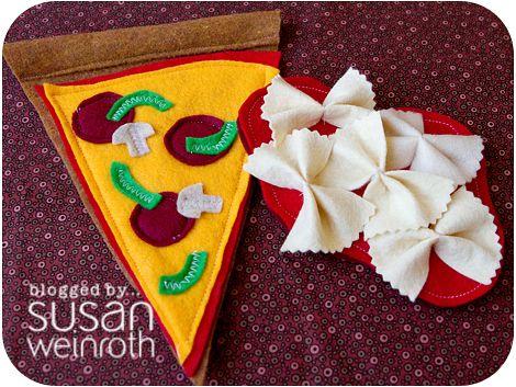 felt foodFelt Play Food, Crafts Ideas, Felt Pizza, Bows Ties, Food Kids, Felt Plays Food, Pizza Mail, Fun Felt, Felt Food