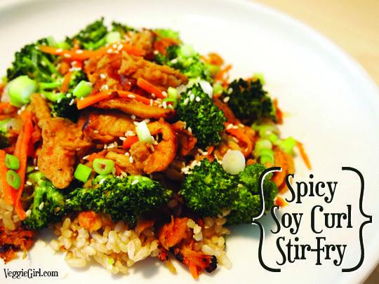 Spicy Soy Curl Stir Fry (vegan)