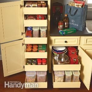 150 best images about diykitchen storage on pinterest appliance garage sliding shelves and corner cabinets - Kitchen Cabinets Shelves Ideas