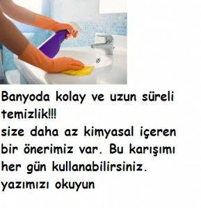 Banyolar evin hijyen açısından en dikkat edilmesi gereken noktaları. Ev hanımları bilir, banyo temizliği neredeyse her gün yapılması gereken temizliklerden biridir. Çamaşır suyunu sık kullanmak taşlara aşındırarak zarar verdiği için kadınlar 3 günde bir kullanmayı tercih eder ama bu seferde hijyen sorunları çıkar ortaya. Bu yüzden size daha az kimyasal içeren bir önerimiz var. Bu … … Okumaya devam et →