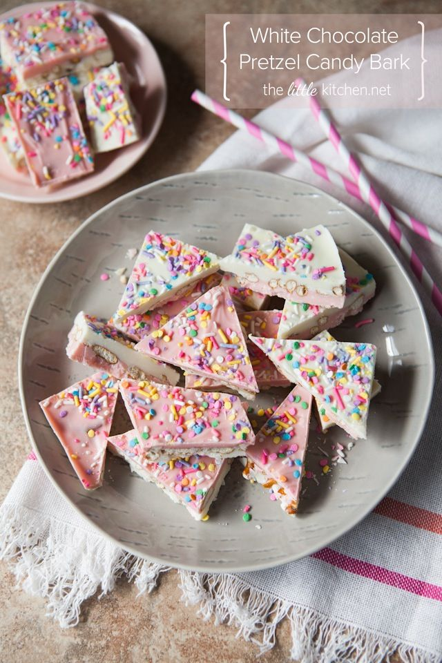White Chocolate Pretzel Candy Bark | The Little Kitchen