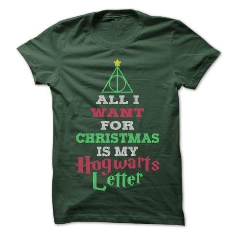 Hogwarts Letter For Christmas tshirt - 1