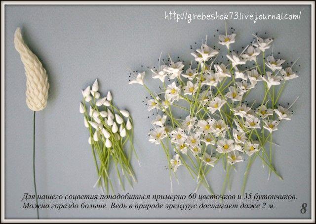 Ну, вот - это мой первый МК! Очень люблю цветы с большИм количеством соцветий. Этот цветок, несомненно может стать замечательным вертикальным акцентом в…
