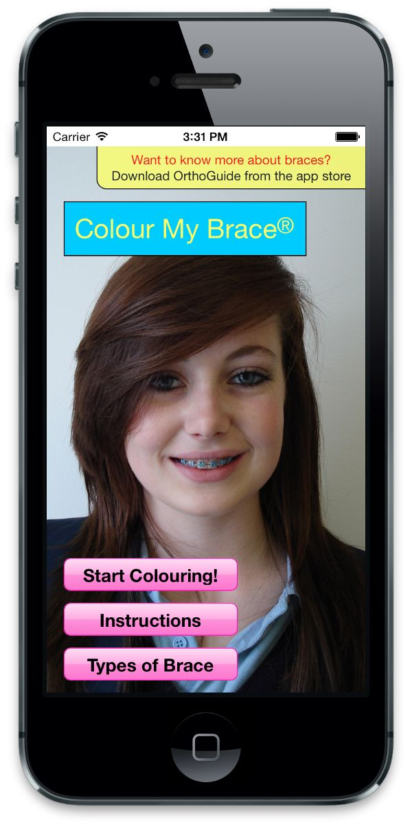 Have you tried the Colour My Brace App?  This app can help you choose your colours for your next appointment and learn about different braces types. Check out the link below.   https://itunes.apple.com/gb/app/colour-my-brace/id713664931?mt=8